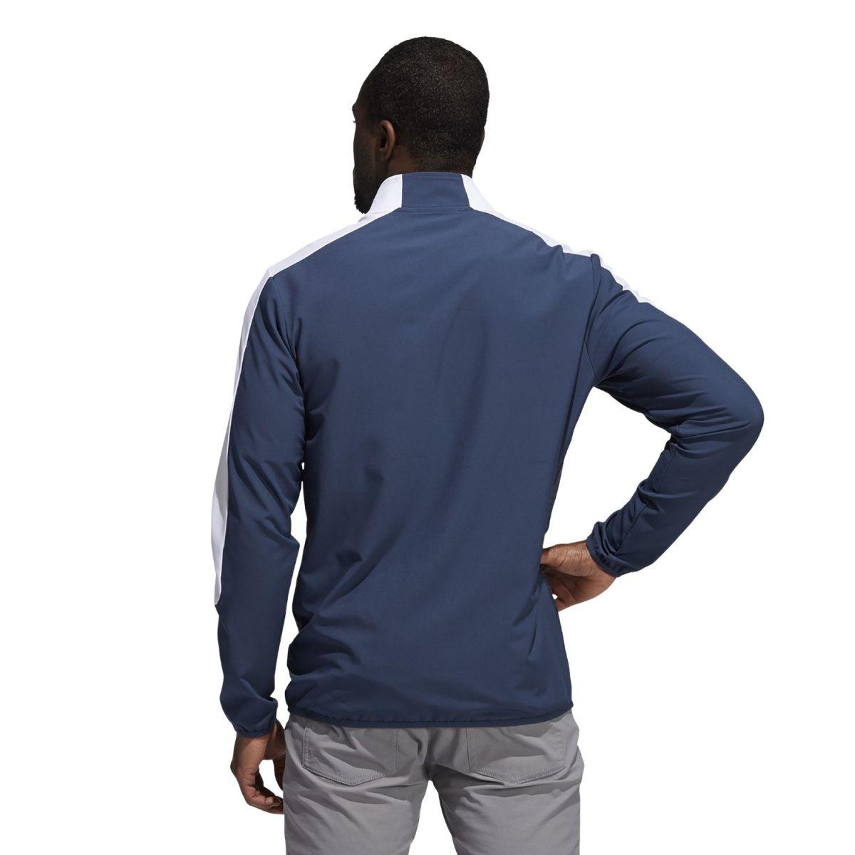 adidas jacket 14 zip print navy white xl
