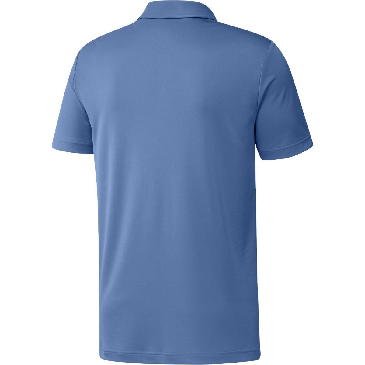 adidas polo chest print blue s