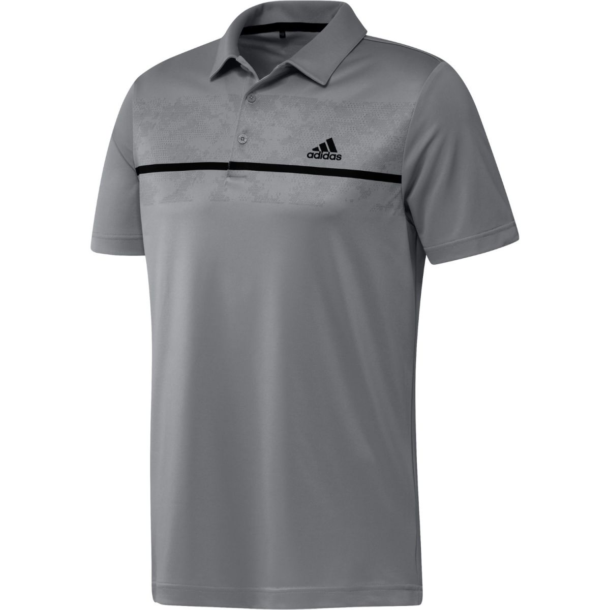 adidas polo chest print grey s