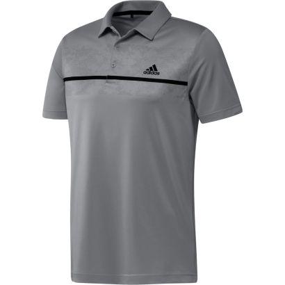 Adidas polo chest print grey