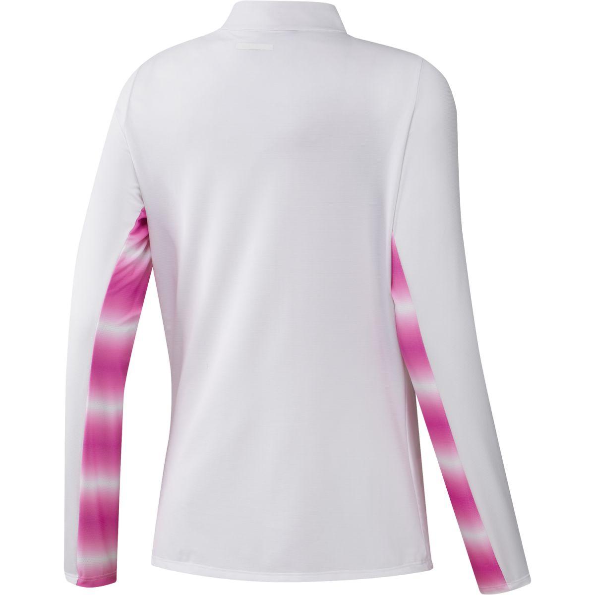 adidas w midlayer heat ready white pink s