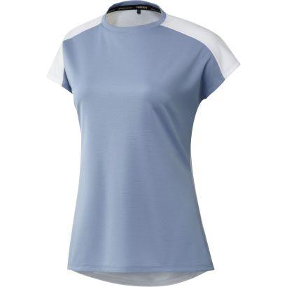 Adidas W polo colorblock heat ready blue