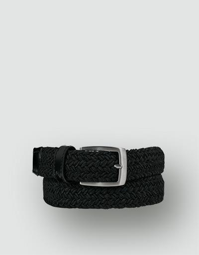 alberto golf belt basic braided black 85