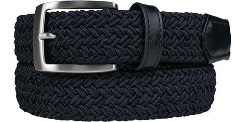 alberto golf belt basic braided navy 85