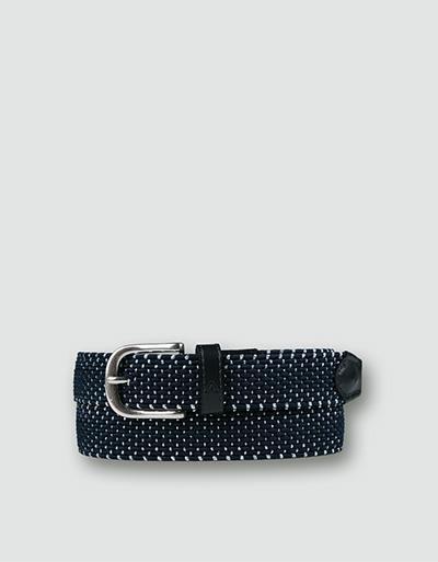 alberto golf belt silver braided navysilver 80