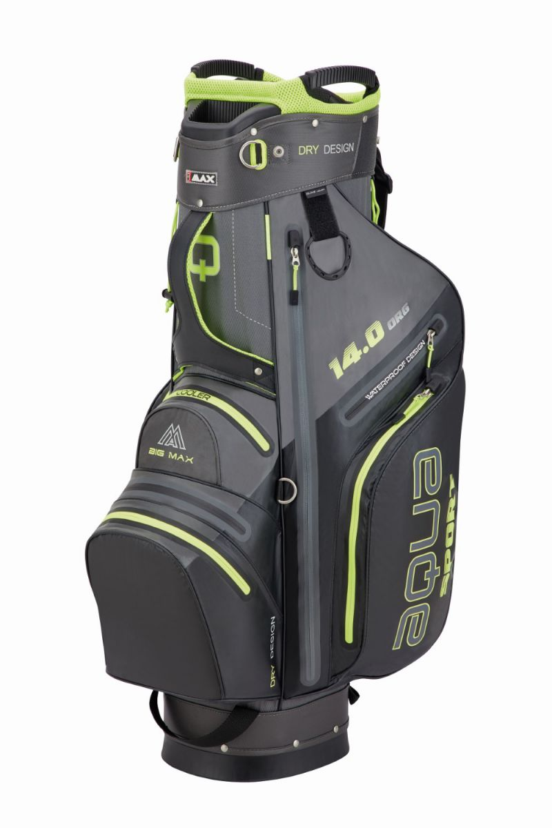 big max cartbag aqua sport 3 charcoal black lime