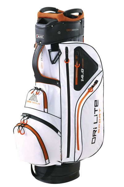 big max cartbag drilite sport white black orange