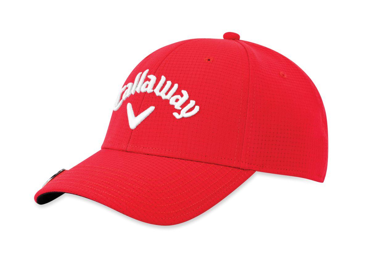 callaway cap stitch magnet red