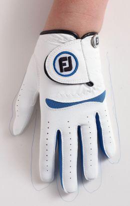 FJ Junior Glove White/Cobalt