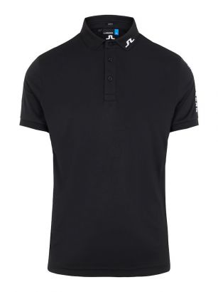 J.Lindeberg Polo Tour Tech Slim fit Jersey Black