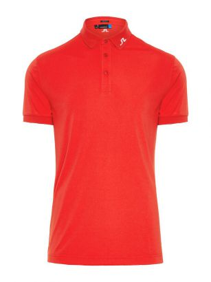 J.Lindeberg Polo Tour Tech TX Jersey Red