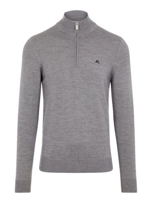 J.Lindeberg Sweater Kian Tour Merino Grey