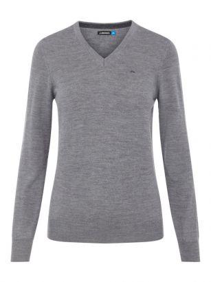 J.Lindeberg W sweater Amaya Grey