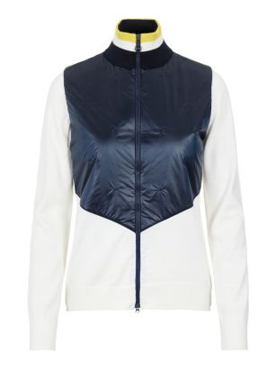 J.Lindeberg W Sweater Hybrid Luna White
