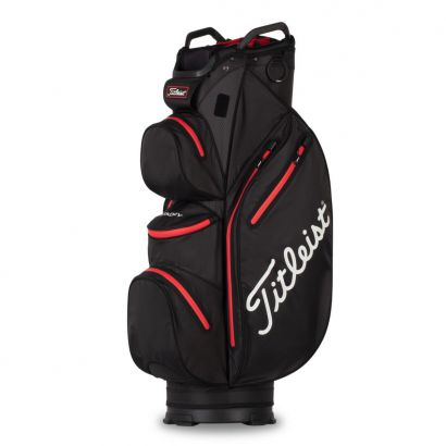 Titleist CartBag StaDry 14 Black Red